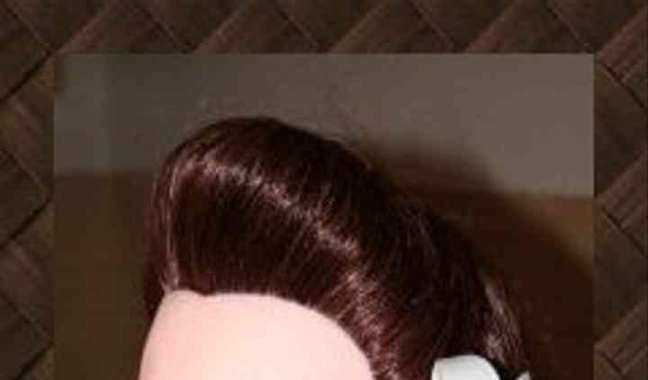 Fleur dans les cheveux