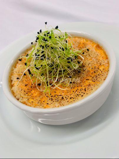 Crème brulée homard