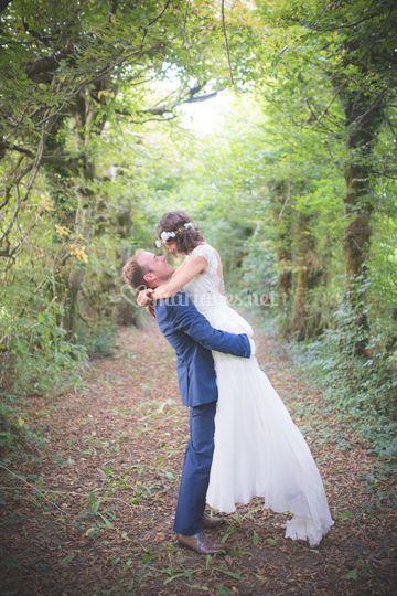 Les mariés dans les Charmilles