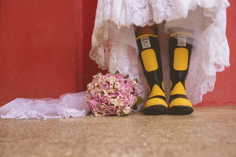 Mariée décalée