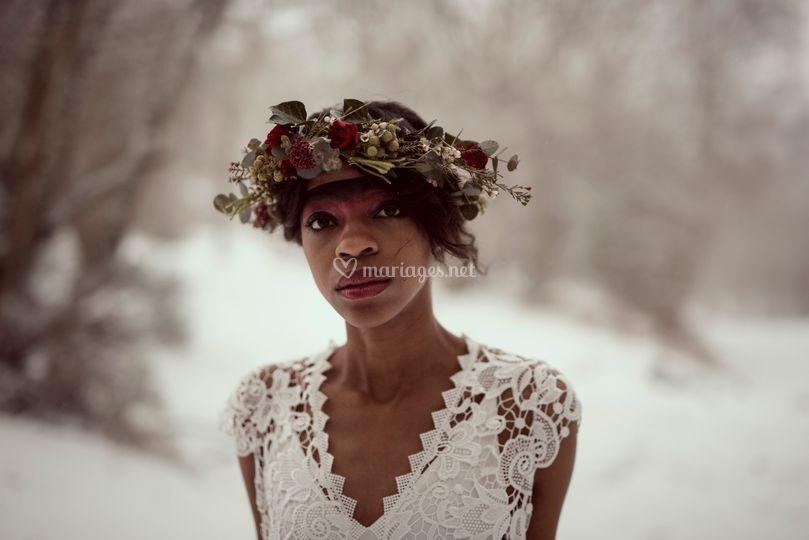 Couronne fleurs Sauvage