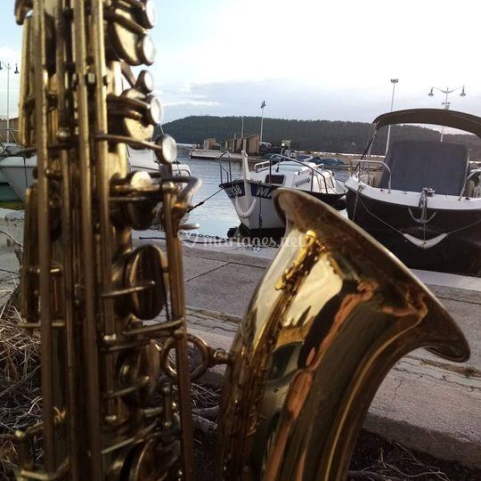 Sax, wedding la mer