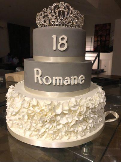 Cake design ruffle