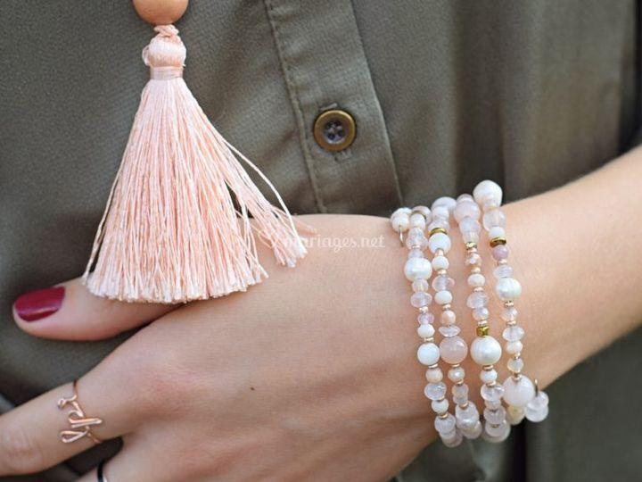 Manchette de mariée perles