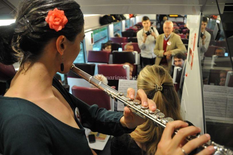 Fête de la musique dans le TER
