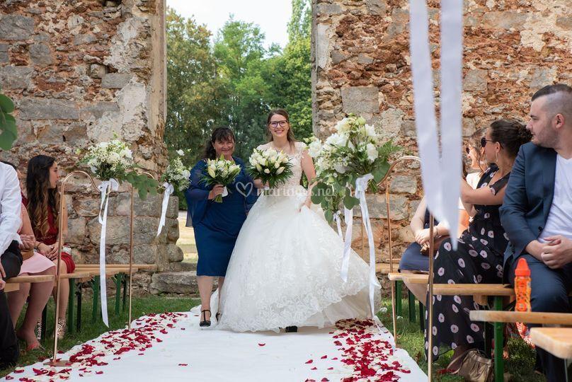 Entrée cérémonie mariage