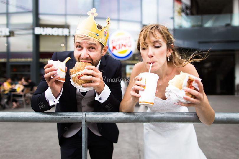 Photo de couple Burger King