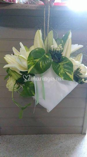 Bouquet mariée sac