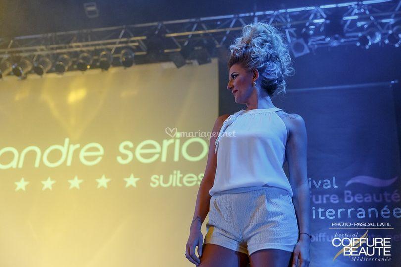 Show coiffure chignon