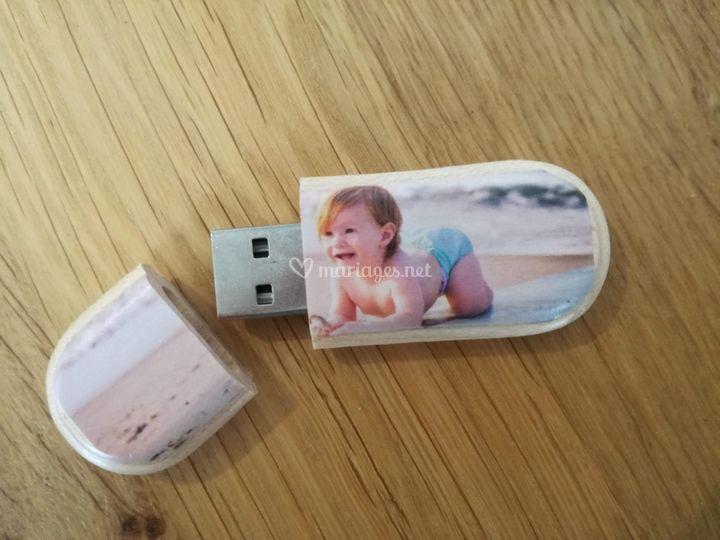 Clé USB bois