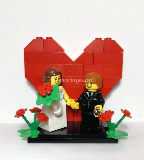 Display coeur LEGO