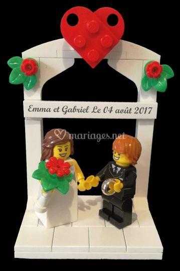 Display mariés LEGO