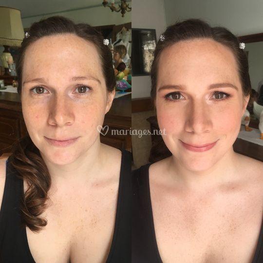 Avant/après mariée