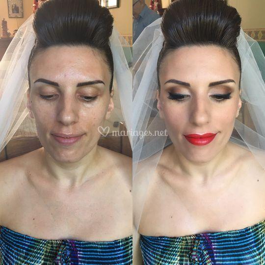 Avant/après mariée jour j