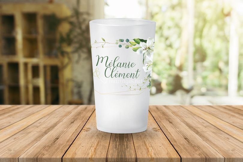 Gobelet Mariage Floral