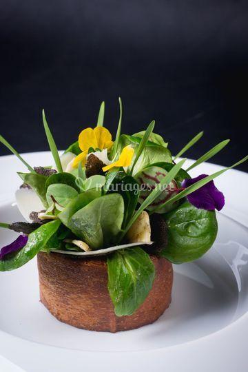 Bouquet de mâche et truffes