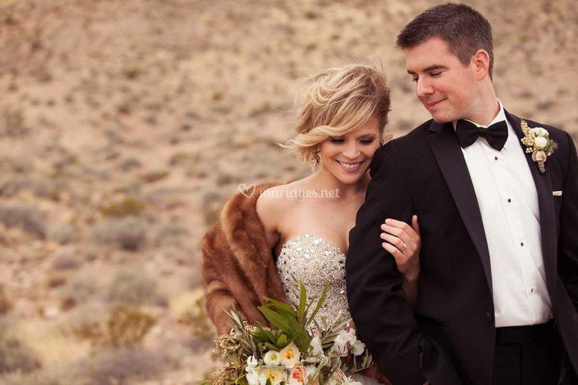Portrait couple dans le Nevada