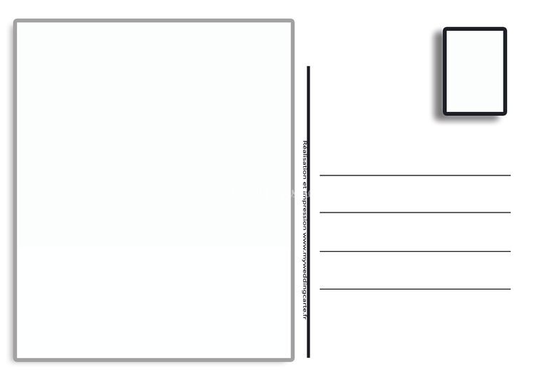 Carte postale faire-part