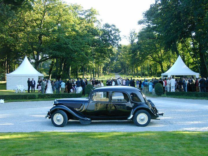 Cocktail mariage dans le parc