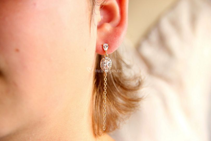 Clous d'oreilles chaîne