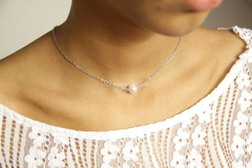 Collier mariage une perle
