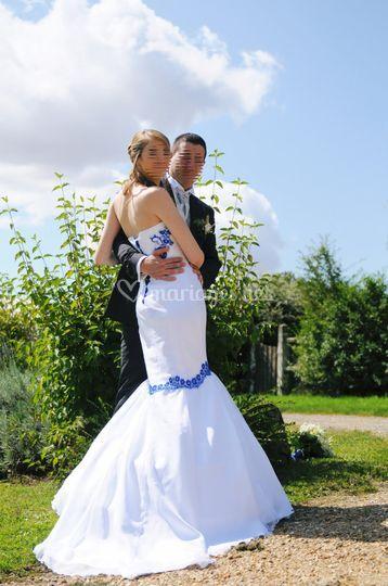 Blanc bleu....