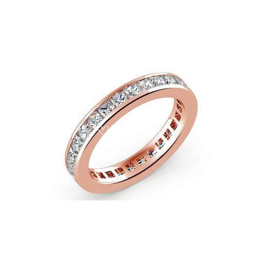 Alliance diamants princesses rail or rose 100 carat