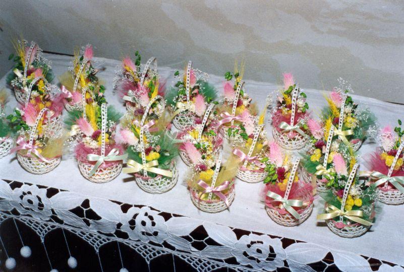 Pochons dragées décorés