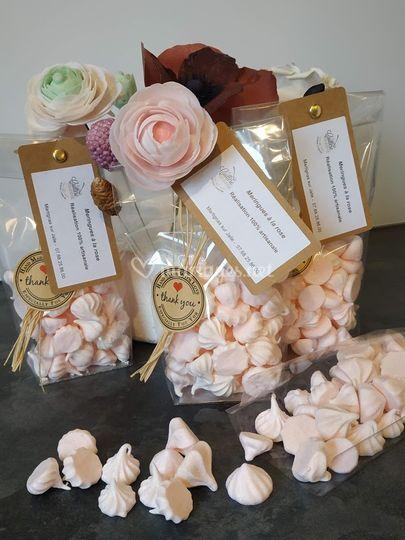 Mini meringues cadeaux invités