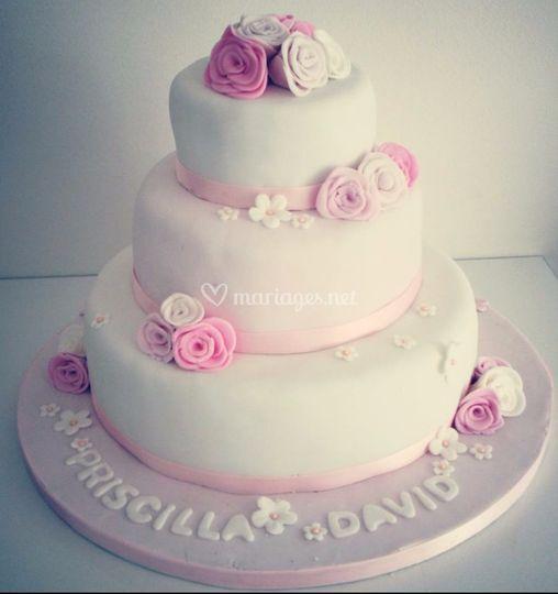 Wedding cake 80 parts