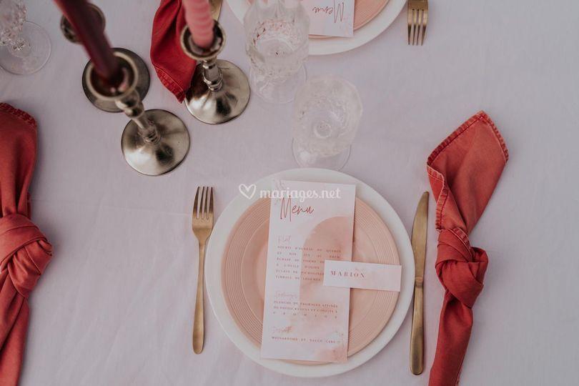 Papeterie et table