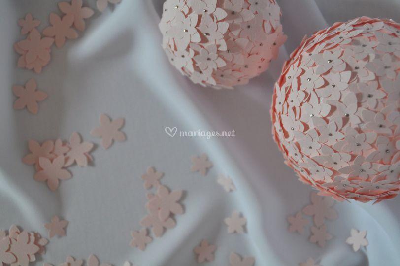 Conception de boules fleuries