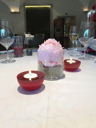 Centre de table rose