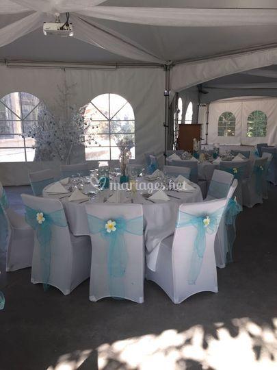 Tables mariage L&J à Nîmes