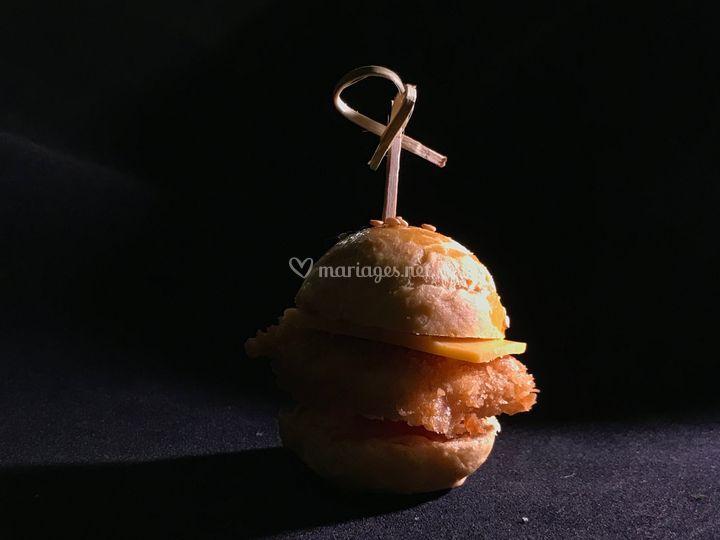 Mini burger tandoori
