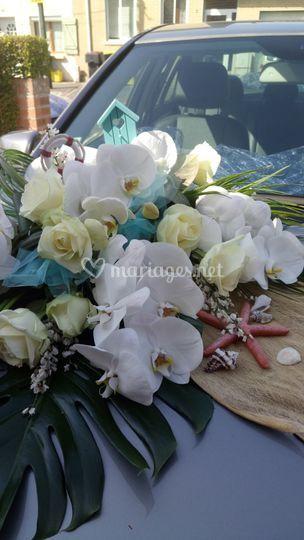 Bouquet de devant de voiture