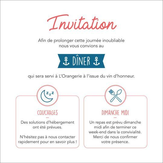 Carton invitation repas