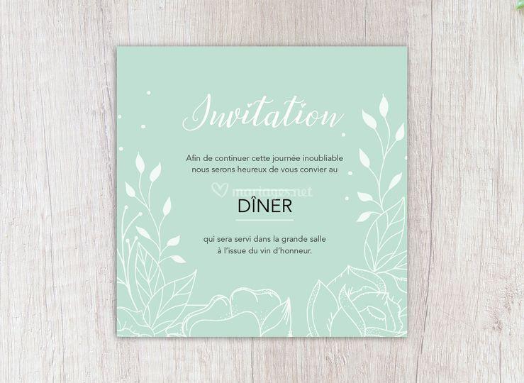 Invitation repas