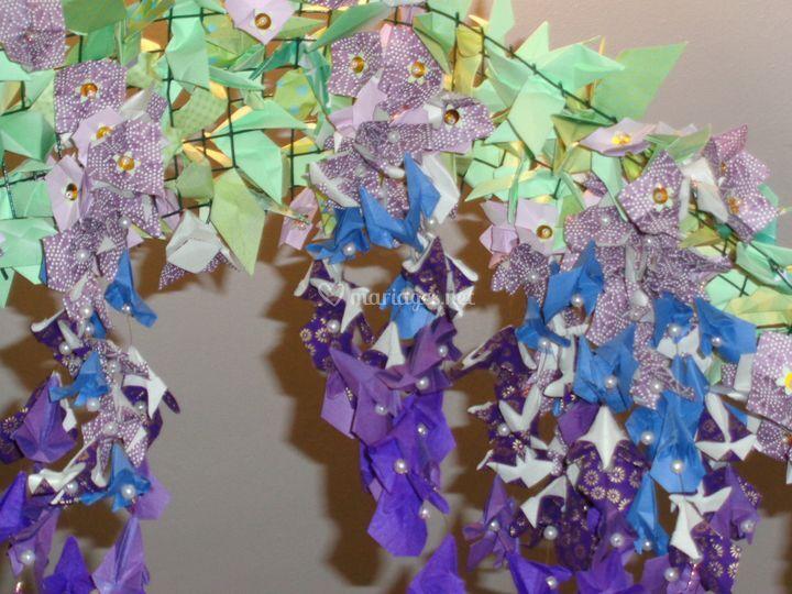 Glycine origami détail