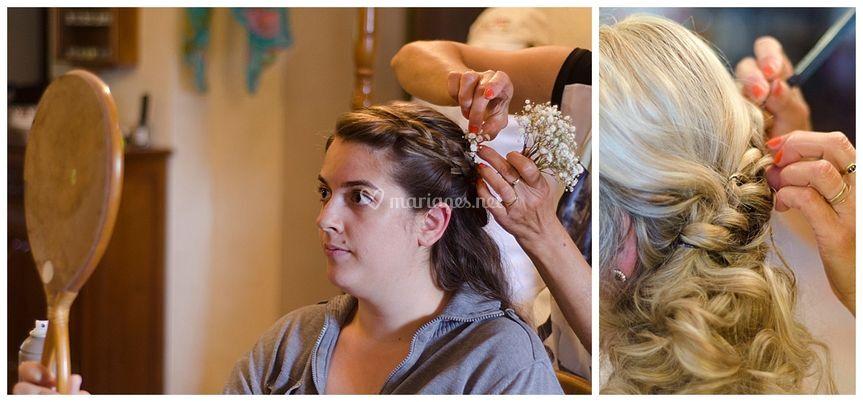 Les préparatifs de la mariée