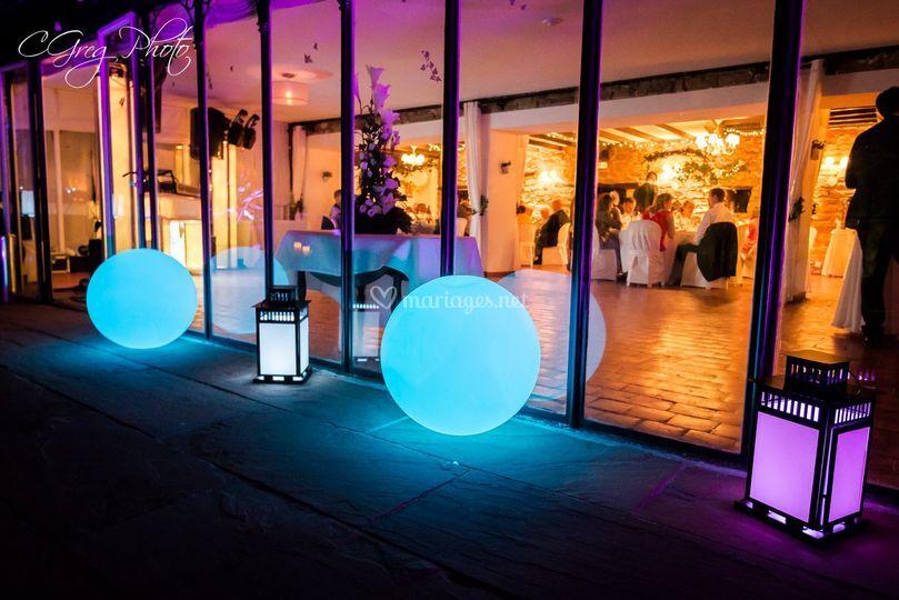 Boules et lanternes à leds