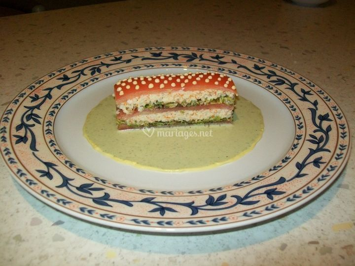 Mille feuilles tomate au crabe