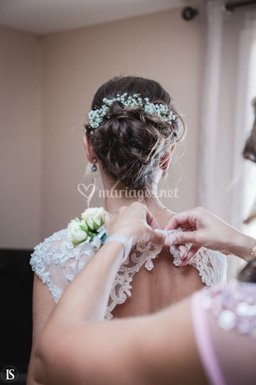 Chignon de mariée Imp'Hairial