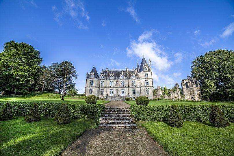 Façade sud du château