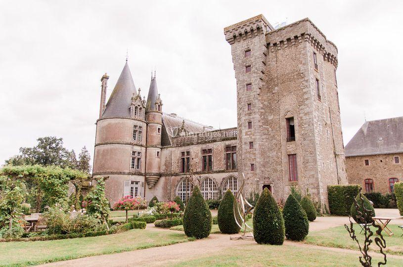 Château vu du jardin français