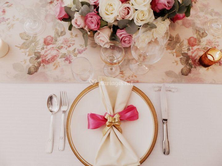 Déco de table mariage intime