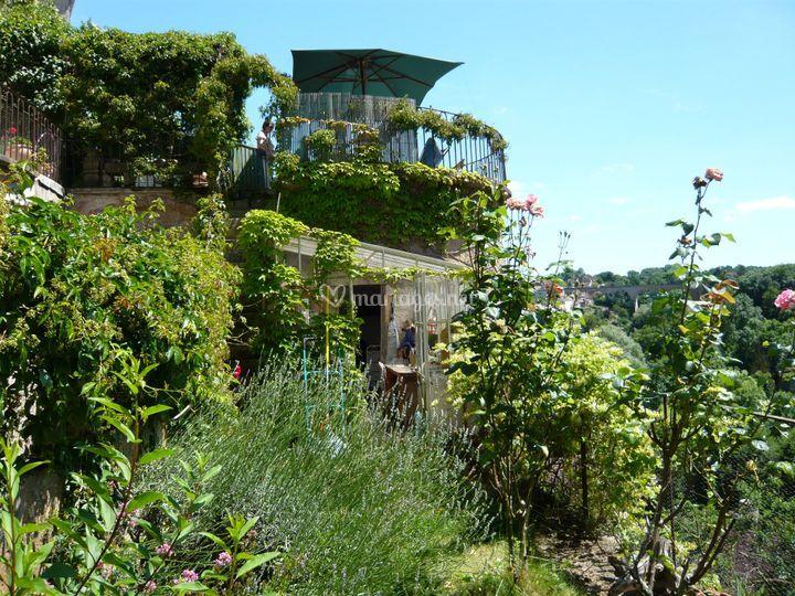 Vue du jardin bas