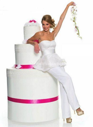 La mariée et le gâteau