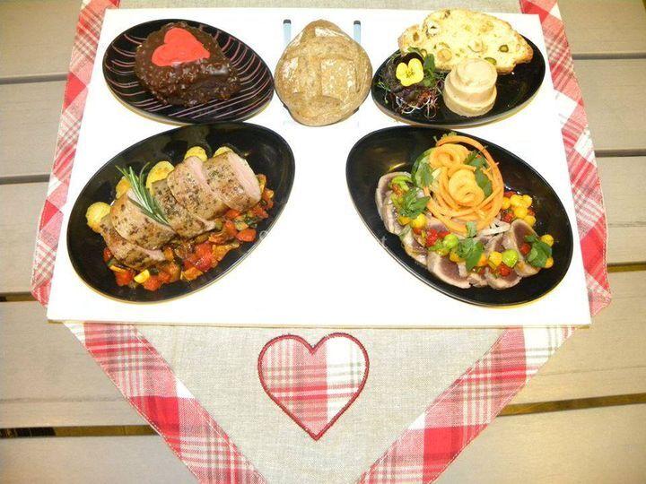 Plateau repas St valentin