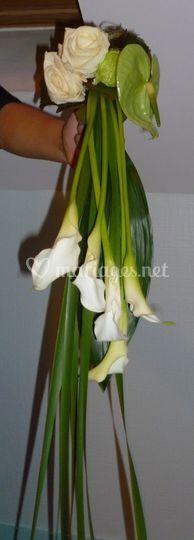 Bouquet de Mariée forme chute